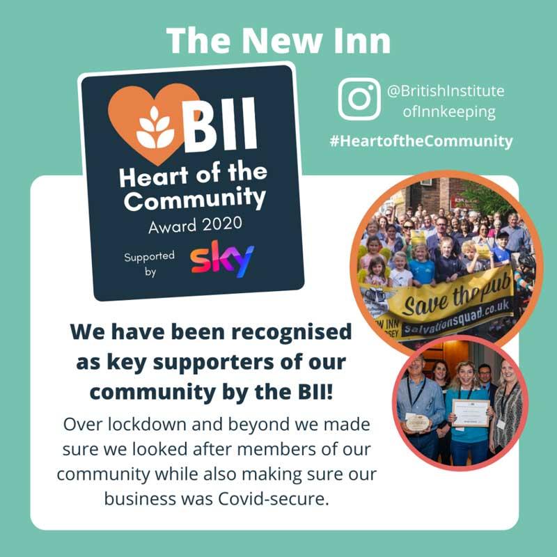 New Inn Awarded BII Heart of the Community